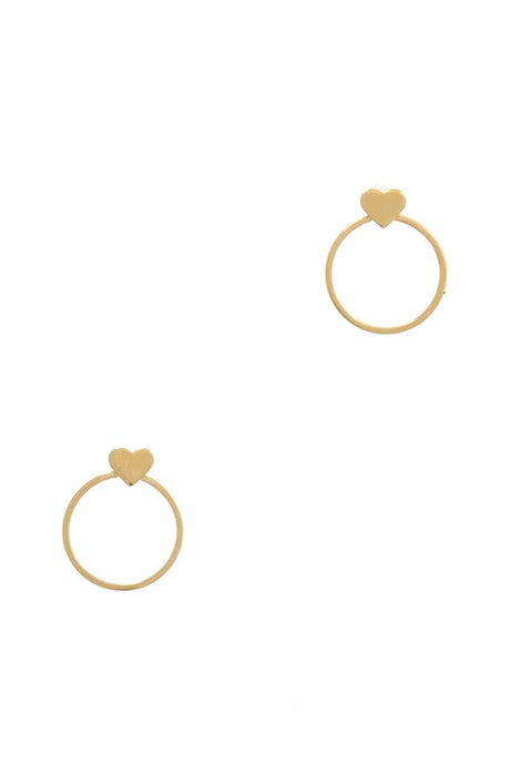 Hearts And Hoops Earrings - Creole Couture Boutique