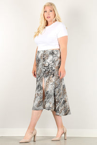 Snake Goddess High Waist Skirt - Creole Couture Boutique