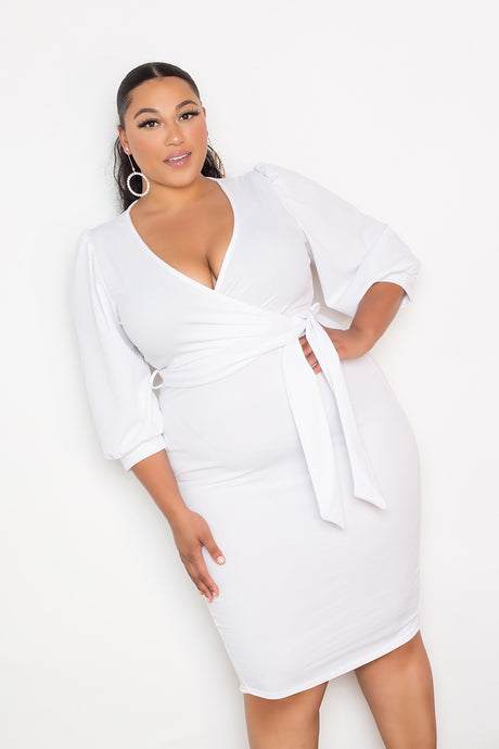 Wrap Ritzy Midi Dress - Creole Couture Boutique