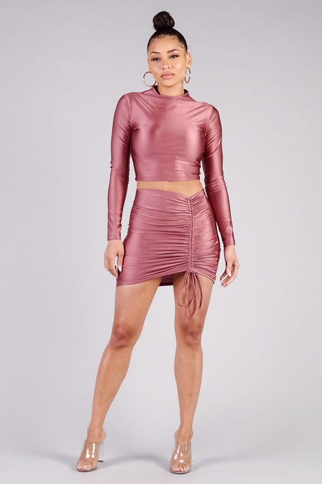 Ruched Nights Mini Pencil Skirt - Creole Couture Boutique