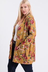 Esha Flower Hacci Cardigan - Creole Couture Boutique