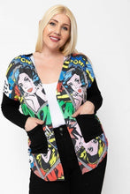 Senada Comic Print Cardigan - Creole Couture Boutique