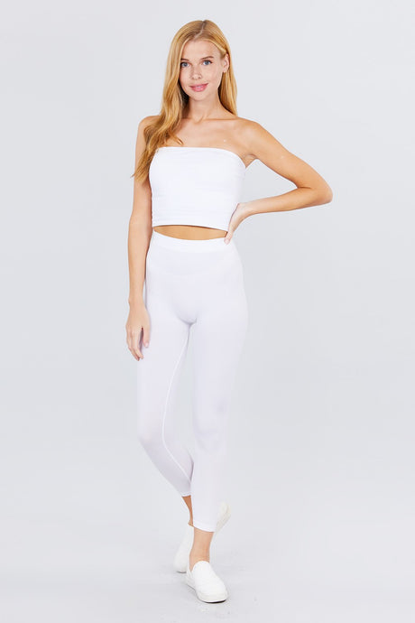 Anne Seamless Long Legging - Creole Couture Boutique