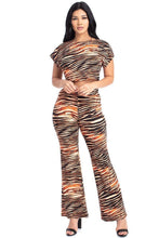 Hallie Zebra Crop Top And Palazzo Pants Set - Creole Couture Boutique