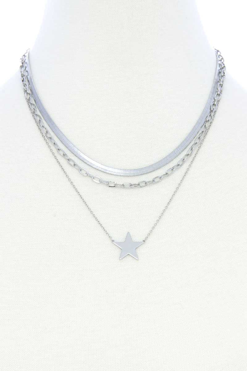 Layers of Stars Necklace