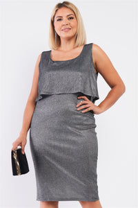 Night Sky Shimmer Sleeveless Layered Dress