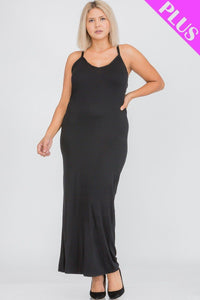 Plus Size Racer Back Maxi Dress