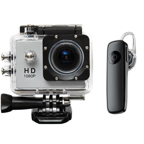 Pioneer HD Action Camera + Free Universal Mini Bluetooth Monopod