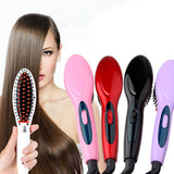 Electric hair straightener brush Hair Care Styling hair straightener Comb Auto Massager Straightening Irons SimplyFast Hair iron