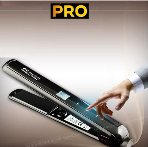 450F Touch-Screen flat Iron hair straightener professional fast electric straightening ceramic titanium plate Styling Tools