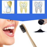 Bamboo Charcoal Toothpaste Powder for Teeth Whitening with Toothbrush
