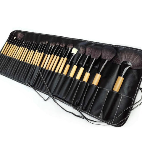 New Natural 32Pcs Set of Professional Eyebrow EyeShadow Makeup Brushes