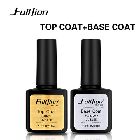 Long Lasting Top & Base Polish Coat Gel for Nails