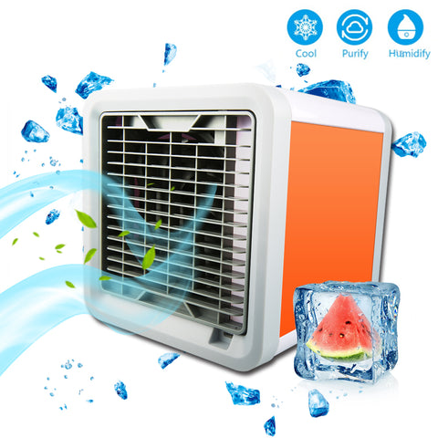 Space Cooler 3-in-1 Evaporative Air Conditioner, Humidifier, Air Purifier. 3 Fan Speeds, 4 Foot Cooling Area