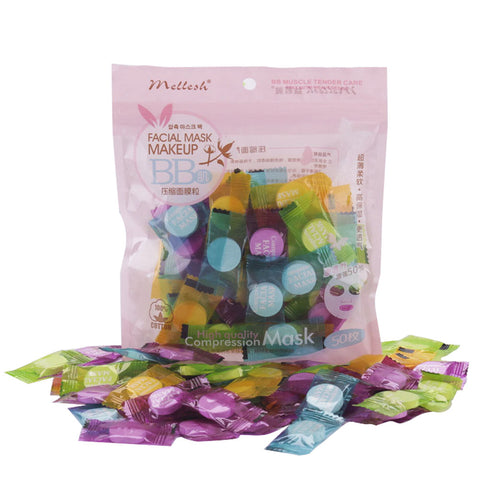 Non-woven 50 Pcs Moisturizing Beauty Mask for Face