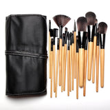 New Natural 15pcs/18pcs Set of Professional Makeup Eyeshadow Brushes