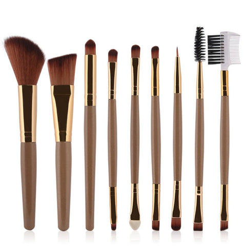 New Natural 7/9Pcs Women's Professional Cosmetic Makeup Brushes