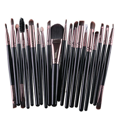 20 Pcs Eyeshadow Eyeliner Lip Cosmetic Brushes for Makeup