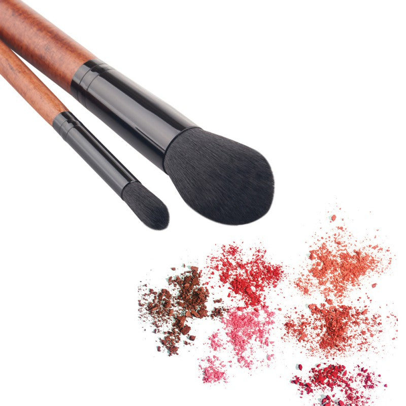 New Natural 2pcs/Set of Multi-Function Makeup Powder Brushes for Face