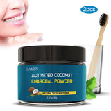 Activated Coconut Charcoal Powder for Teeth Whitening with Toothbrush