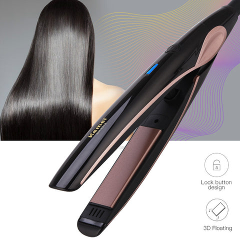 100-240V Hair Straightener Tourmaline Ceramic Constant Temperature Hair Flat Iron Temperature Control Hair Styling Tool 47