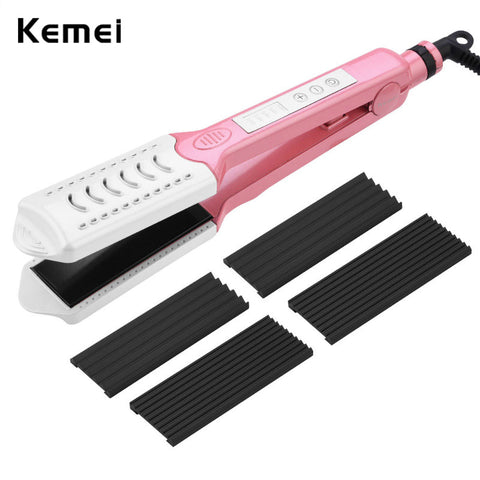 Portable 2 in 1 Hair Straightener Fast Heating Hair Flat Curler Hair Styling Tools with Adjustbale Temperature Hair Curler