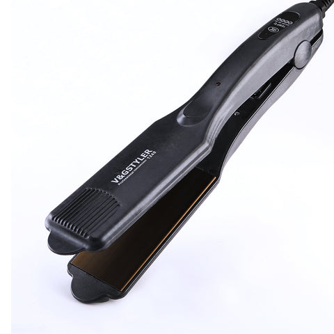 professional ceramic hair straightener 2 inch LED display straightening iron fast heating flat iron salon hair styling tools