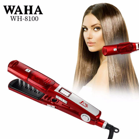 2018 explosion steam spray multi-function hair straightener wet and dry dual-use electric straightening plate