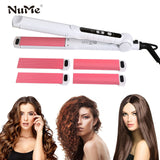 Hair Straightener Interchangeable 4 in 1 Hair Curler Negative Ions Plates Ceramic Flat Iron Corrugation Curling Iron styling