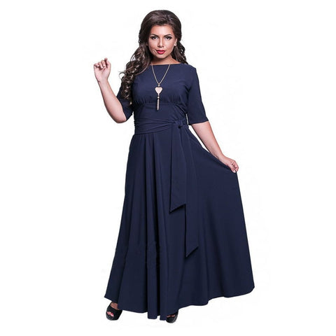 Spring 2019 Plus Size Women Long Floor Dress Large Size 6XL Autumn Maxi Dresses Elegant Party Club Sexy Big Size Open Back Dress