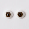 8mm Brown - Oval Glass Eyes - 1 Pair - #1184