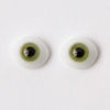 8mm Green - Oval Glass Eyes - 1 Pair - #1185