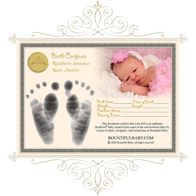 "Realborn® Summer Rain Awake (18.5"" Reborn Doll Kit)"