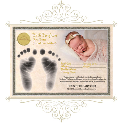 "Realborn® Brooklyn Sleeping (19"" Reborn Doll Kit)"