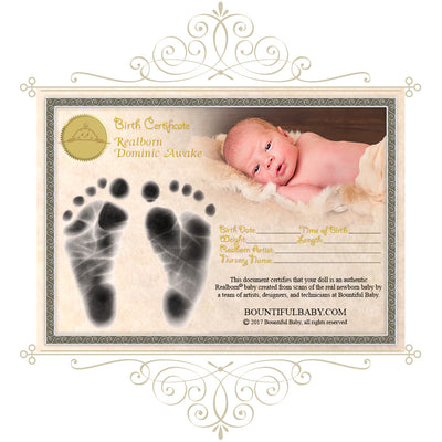 "Realborn® Dominic Awake (19.5"" Reborn Doll Kit)"
