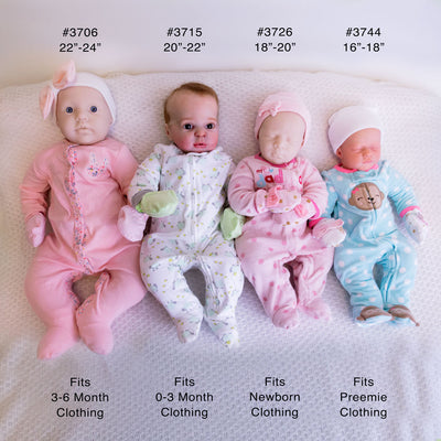 "Cuddle Body for 20-22"" Babies - USA - #3715"