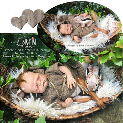 "Fawna (FOR REBORNING) 16.5"" Reborn Doll Kit"