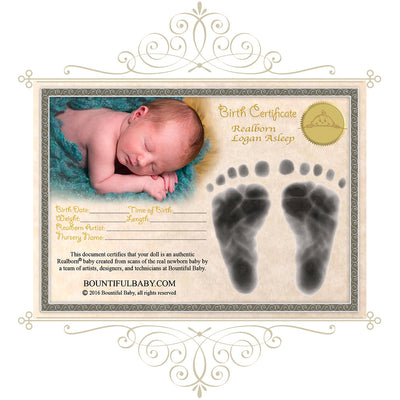 "Realborn® Logan Sleeping (19.5"" Reborn Doll Kit)"