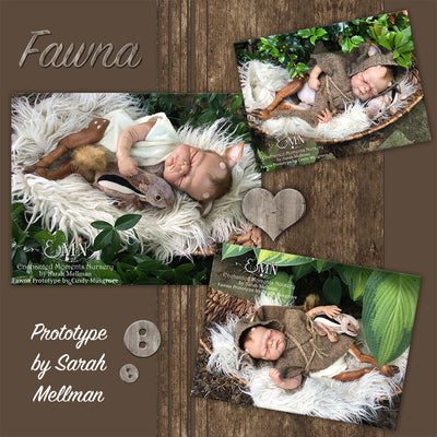 "SECONDS Fawna (FOR REBORNING) 16.5"" Reborn Doll Kit"