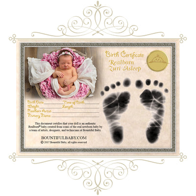 "Realborn® Zuri Sleeping (18"" Reborn Doll Kit)"