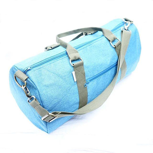 Overnight Duffle Bag</br>Chambray Canvas</br><small><i>(Turqouise/Khaki)</i></small>