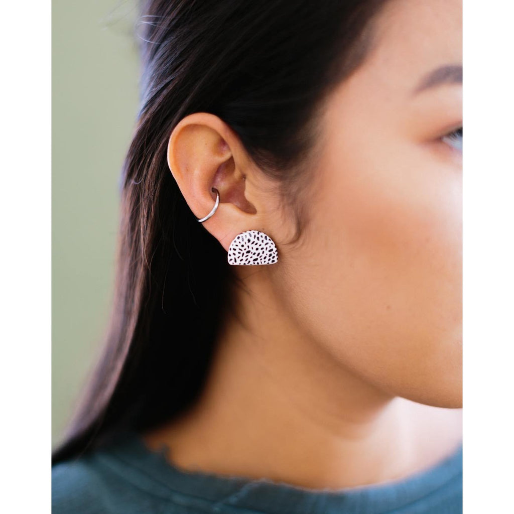Half Moon Stud Earrings