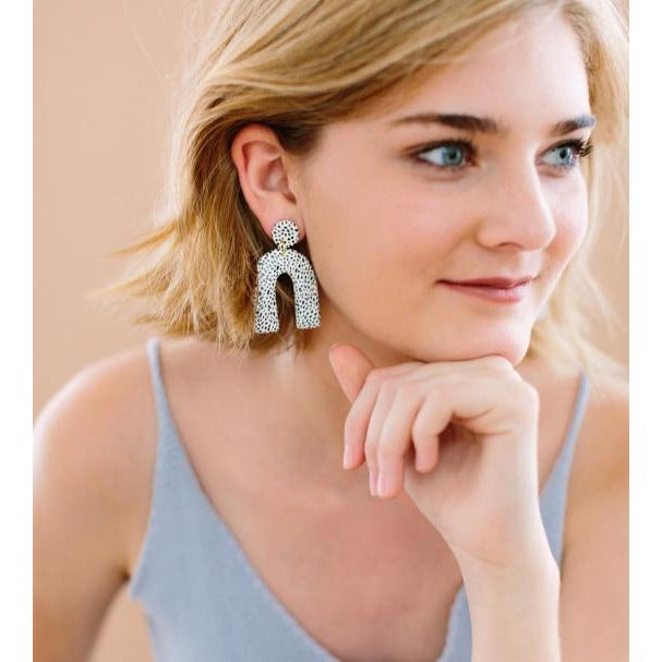 Horseshoe Drop Earrings