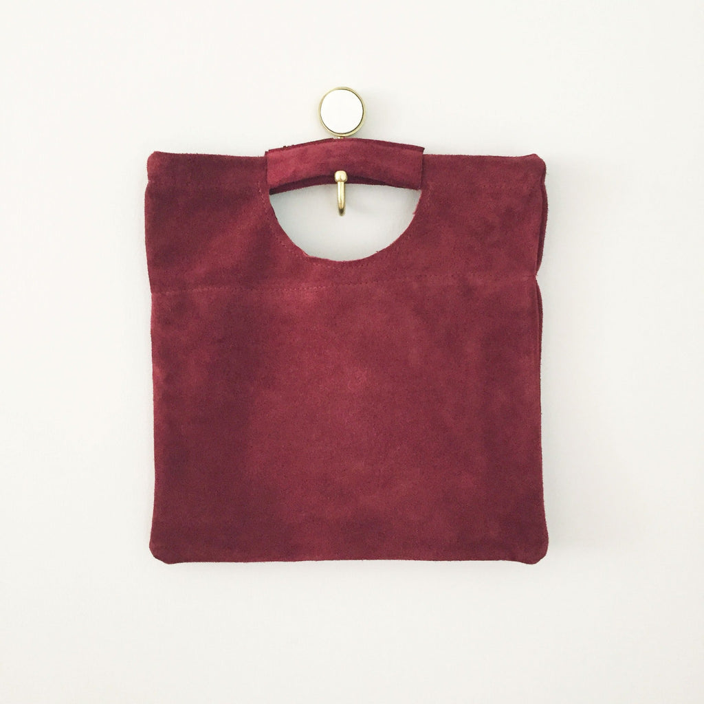 Union Clutch (Red Suede)
