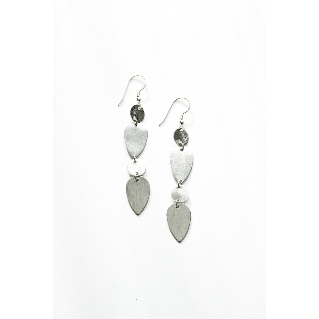 Brushed Silver Earrings