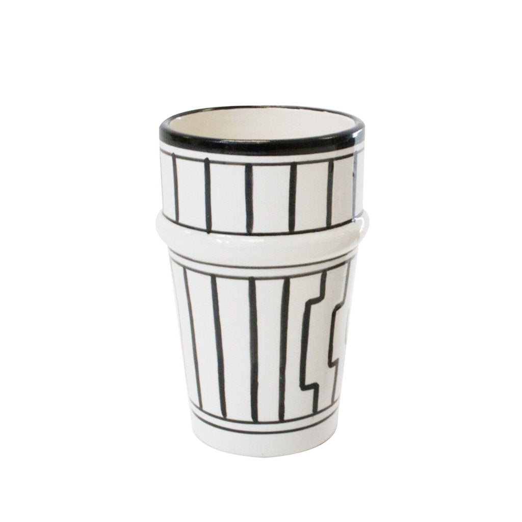 Tapis Beldi Tumbler Cup - Black and White