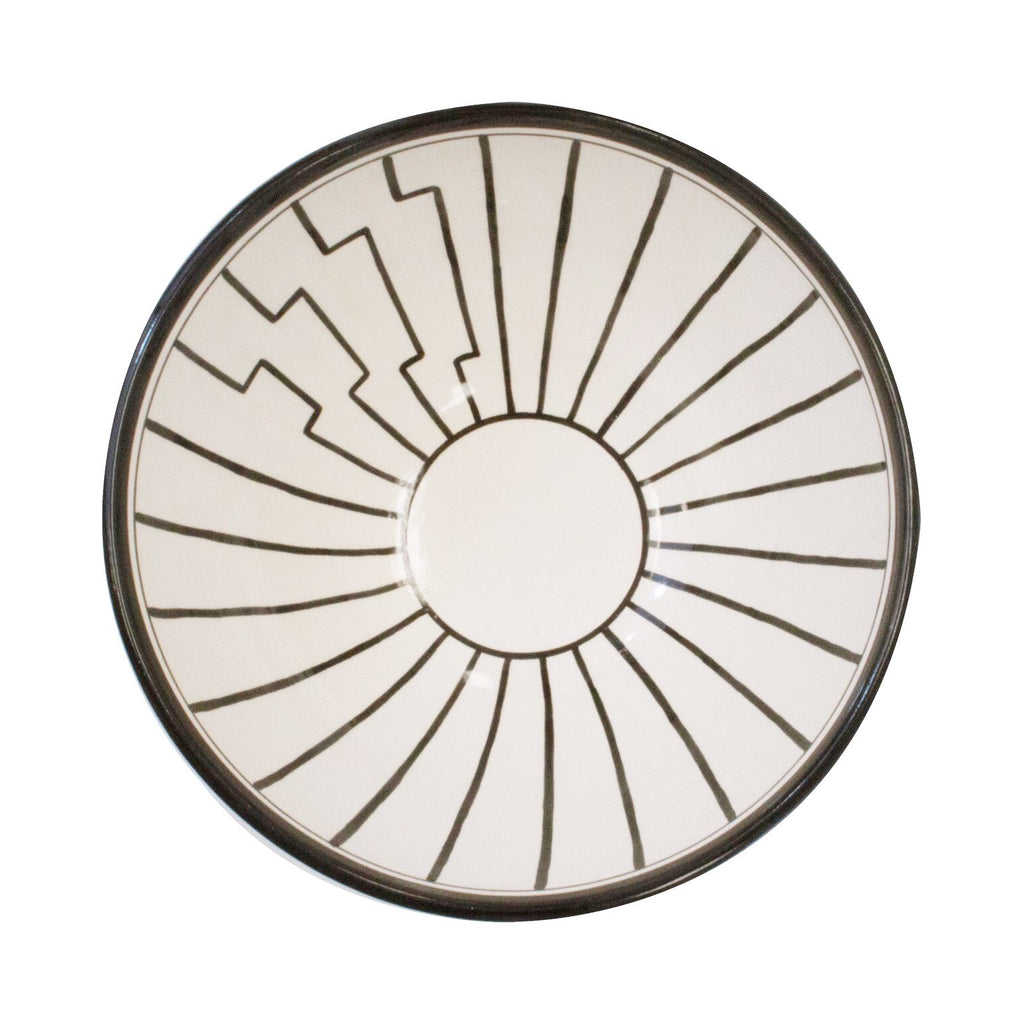 Tapis Salad Bowl - Black and White