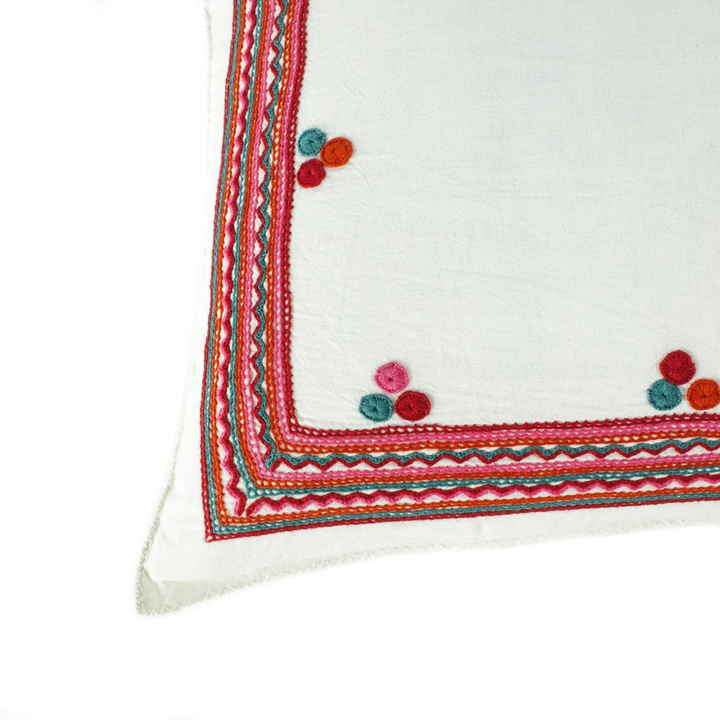 Chiapas Embroidered Pillow I