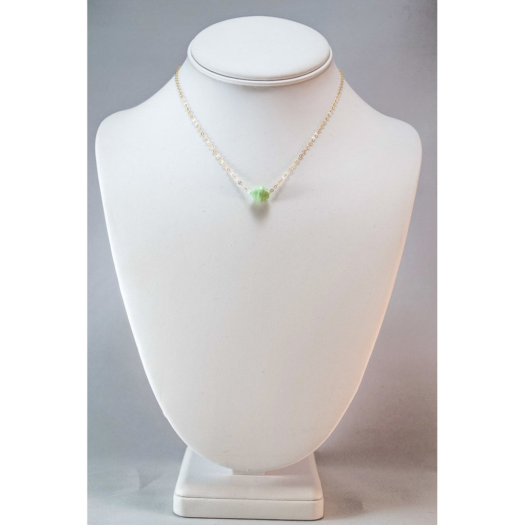 The Dainty Drop Necklace (Mint)