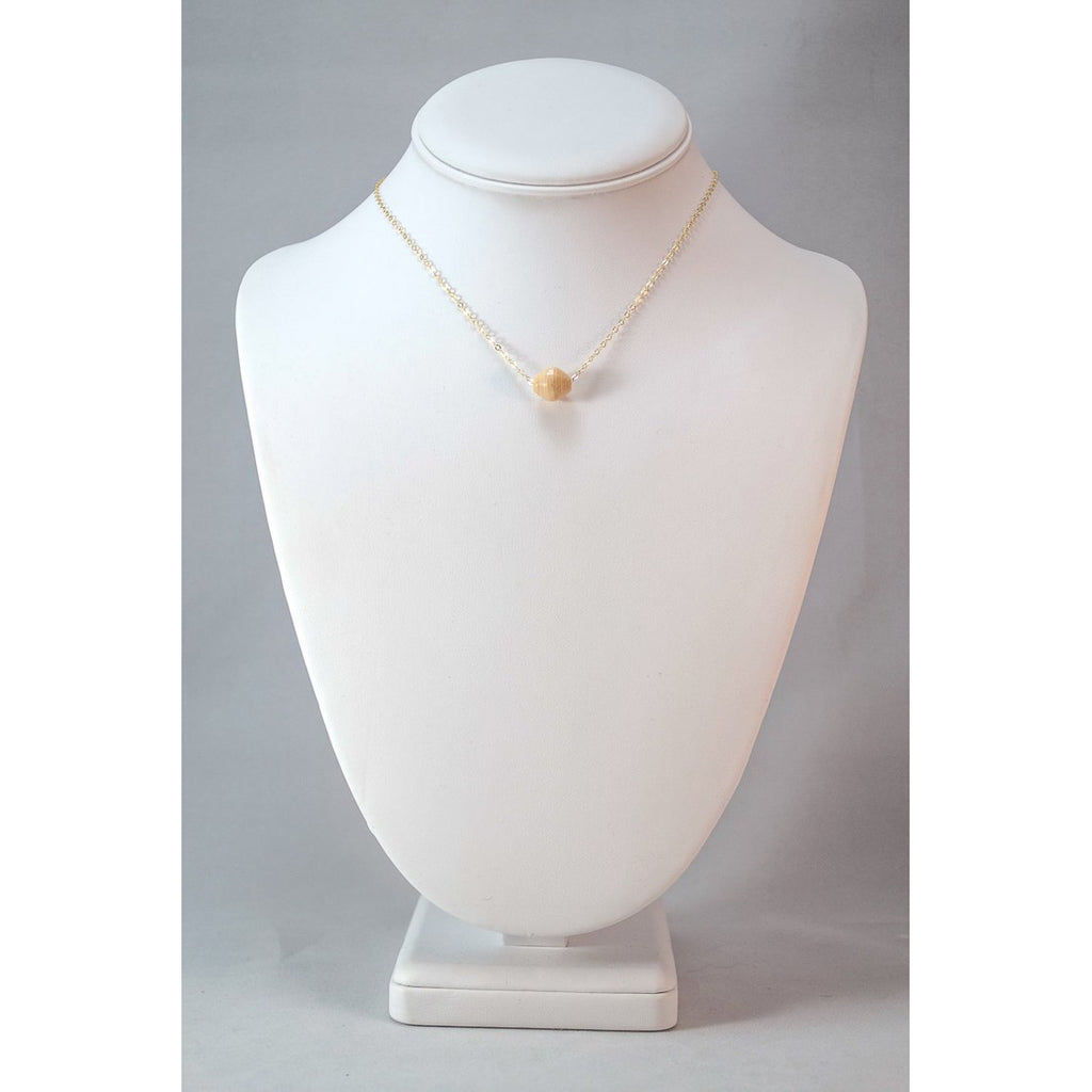 The Dainty Drop Necklace (Cream)